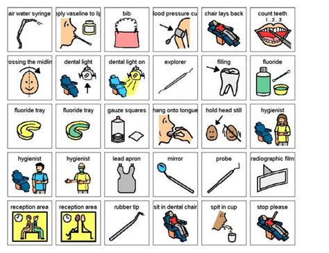 printable picture schedule autism dental visit visual aid dental picture cards autism