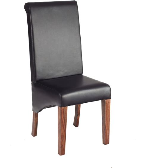 Sheesham Dining Chairs 2 X Cube Sheesham Leather Dining Chair Dining Chairs