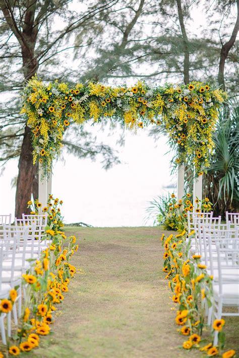 Yellow Wedding Arch by Best 20 Yellow Wedding Decor Ideas On
