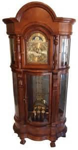Curio Cabinet Clock 52 Ridgeway Cherrywood Curio Grandfather Clock Lot 52