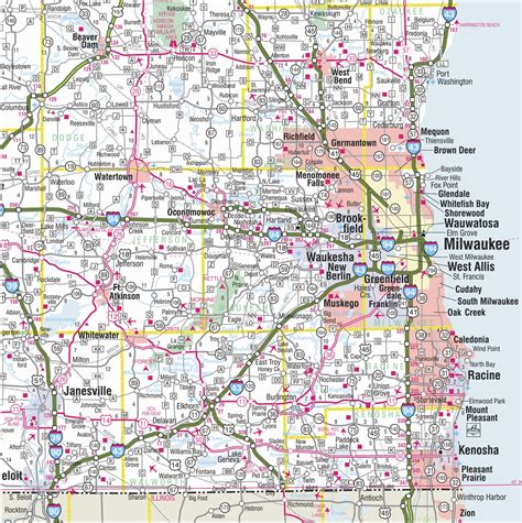 driving map of wisconsin southeast wisconsin road map pictures to pin on