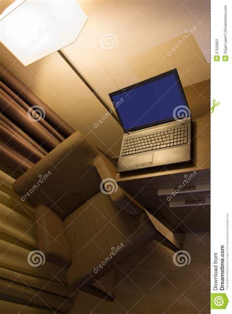 hton inn lap desk laptop on desk in hotel room stock image image 27559901
