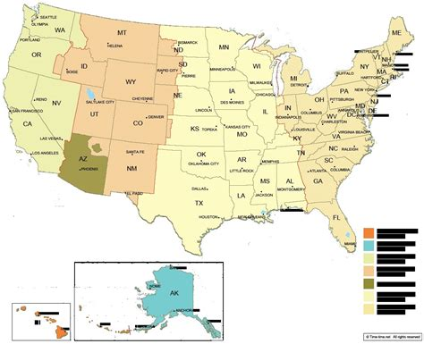 usa time zone wall map time zone us time zone map timezonesmapcom us time zones