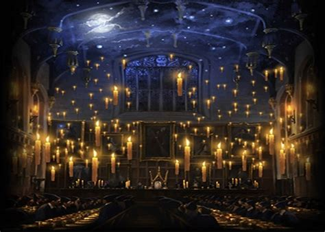 hogwarts candles church lunch hall background vinyl cloth high quality computer print children