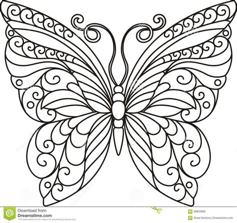 beautiful coloring pages of butterflies stock photos butterfly outline image 58843683