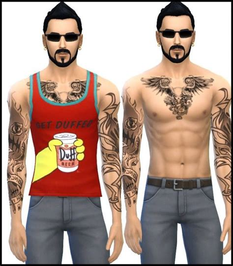 sims 4 tattoos tattoos piercings chest request from simista