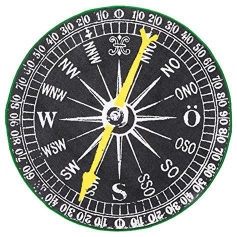 Ikea Compass Nautical Round Throw Area Rug Compass Rug