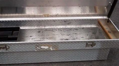 homemade tool boxes for back of trucks truck tool box diamond plate youtube