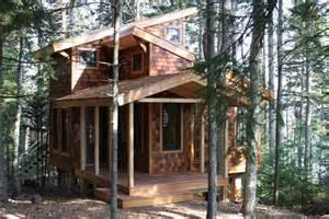 Tiny Tree House Fun A Tiny House In The Trees By David Matero Small House Bliss