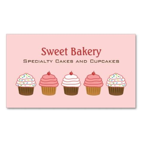 Cupcake Business Cards Templates by 17 Images About Bakery Business Card Templates On
