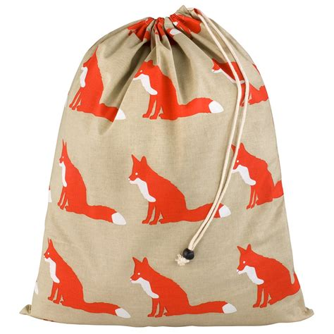 laundry bag anorak proud fox cotton laundry bag