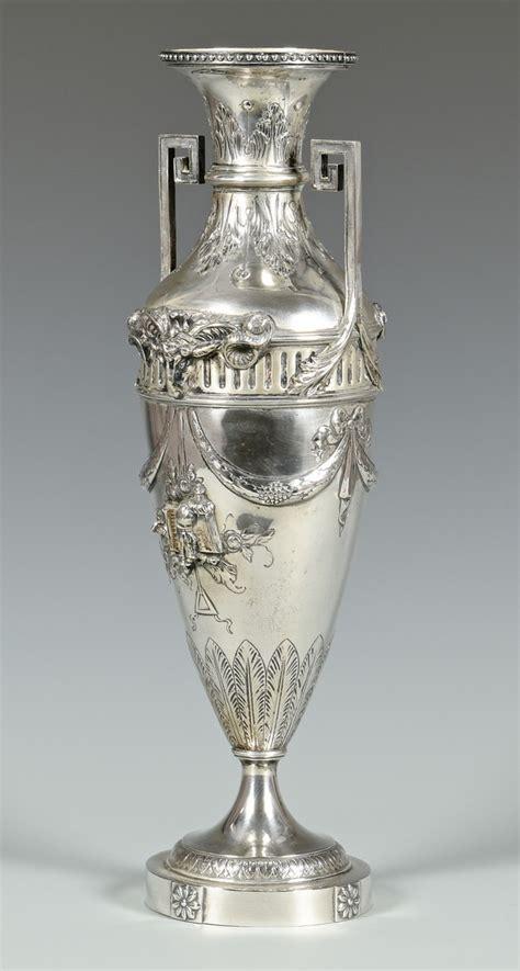 silver vase inc lot 50 hanau silver vase