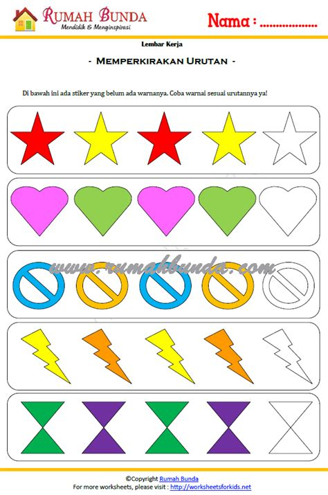 Buku Anak Belajar Matematika Ceria Untuk Paud Tk worksheet gratis untuk anak tk rumah bunda