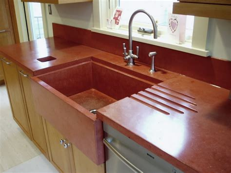 concrete countertop with integrated sink verdicrete concrete countertops custom