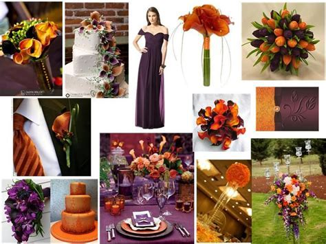 Eggplant and Burnt Orange : PANTONE WEDDING Styleboard