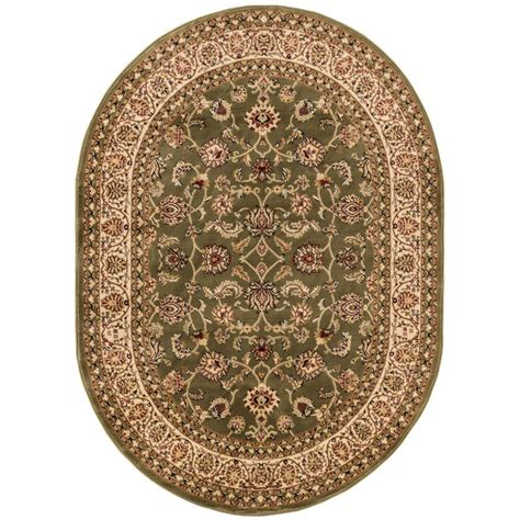 oval accent rugs well woven barclay sarouk green 5 ft 3 in x 6 ft 10 in
