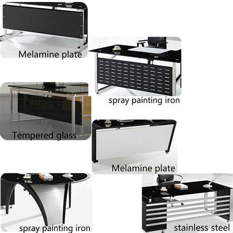 customized office furniture customized modern tempered glass office furniture ceo