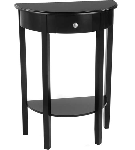 half circle accent table half circle console table bay shore in accent tables