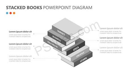 stacked diagrams for powerpoint stacked books powerpoint diagram pslides