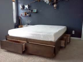 Platform Bed With Storage Ideas 10 Diy Storage Bed Ideas Home Design Garden