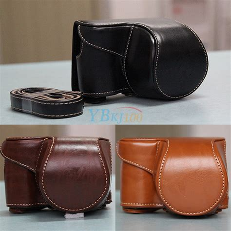 Leather A6000 pu leather bag for sony alpha a6000 with 16 50mm lens