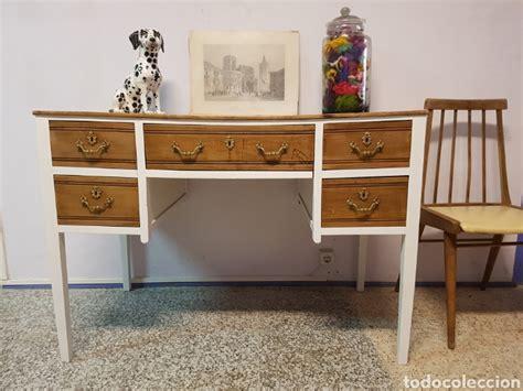 venta escritorio antiguo precioso escritorio antiguo restaurado en blan comprar