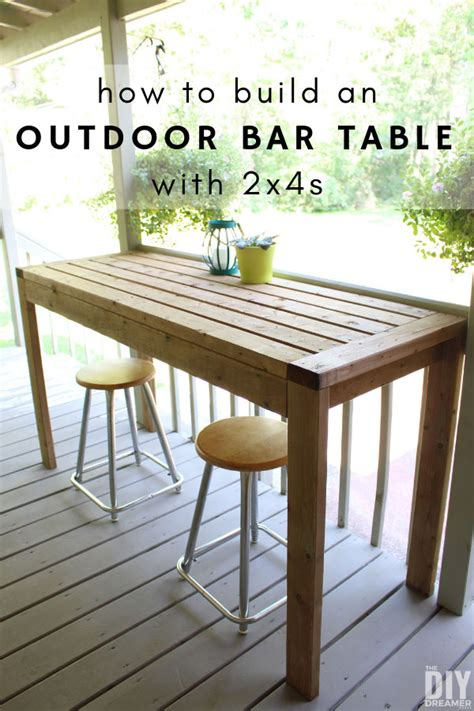 build   outdoor bar table  diy dreamer