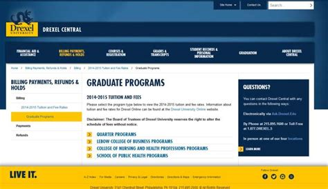 Drexel Mba Requirements by Drexel Mba Tuition Fees 2018 2019 Studychacha