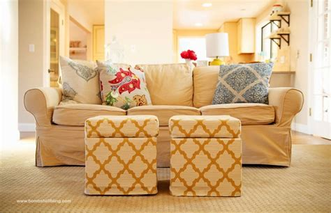 cloth ottoman with storage 20 ottoman with storage ideas for your living room housely
