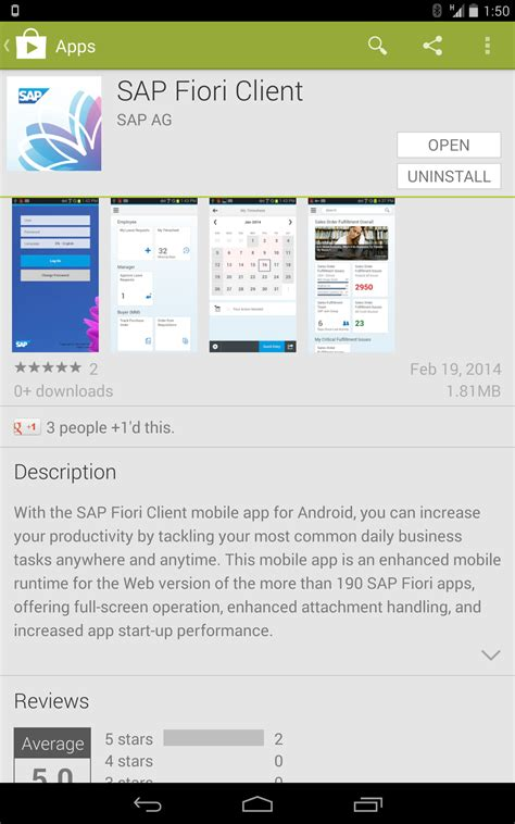 sap fiori sap fiori client available for android devices sap blogs
