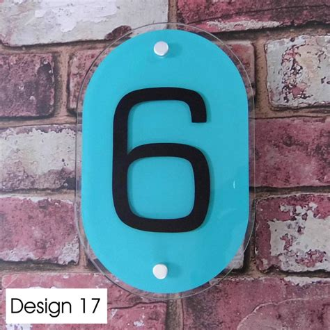 Glass Door Number Signs Modern House Sign Door Number Address Plaque Glass Effect Acrylic Ebay