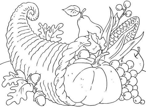 coloring page of cornucopia for thanksgiving best photos of cornucopia writing template free