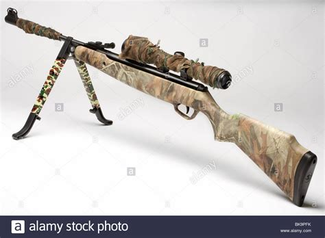 Rifle Stand by Camoflage Air Rifle Gun With Telescopic Sights And A Stand