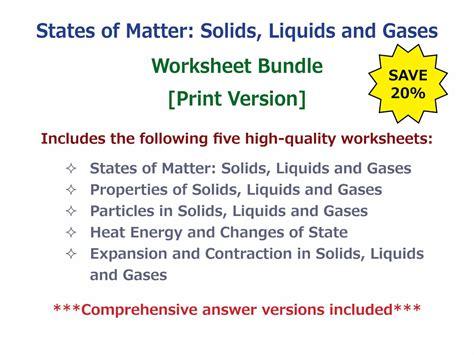 matter site uncategorized solids liquids and gases worksheets