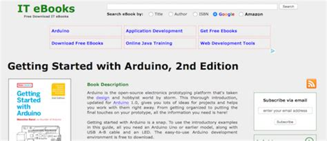 Ebooks Getting Started With Arduino top 50 product design and development resources pannam