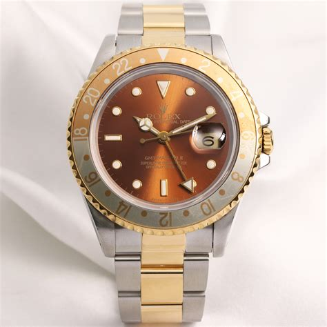 Rolex Gmt Master Ii As rolex gmt master ii 16713 steel gold rootbeer