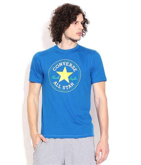 Tshirtt Shirtkaos Converse Blue converse blue cotton t shirt buy converse blue cotton t shirt at low price snapdeal