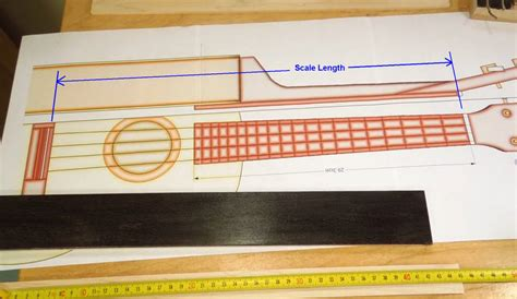 fret scale template the fretboard