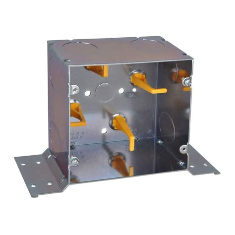 5 in steel square box with cable manufacturer posts and