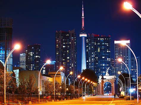 Toronto At Night Wallpaper Wallpapersafari Lights Toronto