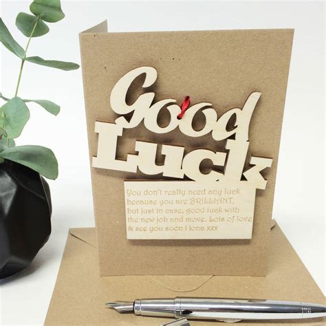 Good Gift Card - personalised good luck gift card by hickory dickory designs notonthehighstreet com
