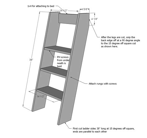 diy bunk bed ladder pdf bunk bed ladder diy plans free