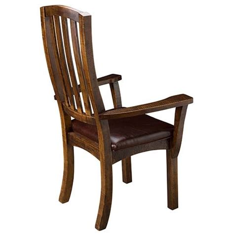 Dining Room Chairs With Leather Seats Sonoma Ridge Arm Chair With Leather Seat Green Gables