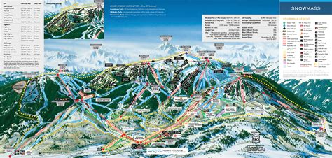 map of colorado ski resorts aspen snowmass ski trail map free