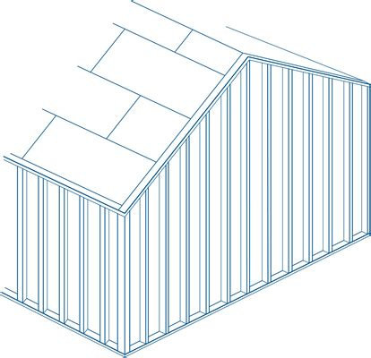 Gable End Wall Framing Wind Resistant Roofs And Attatchments