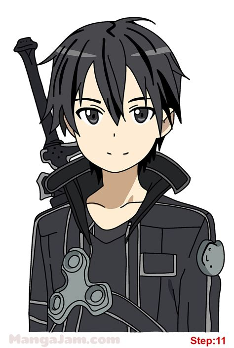 design art online how to draw kirito from sword art online mangajam com