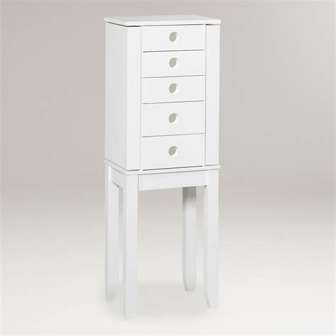 white jewelry armoire white jackie jewelry armoire world market