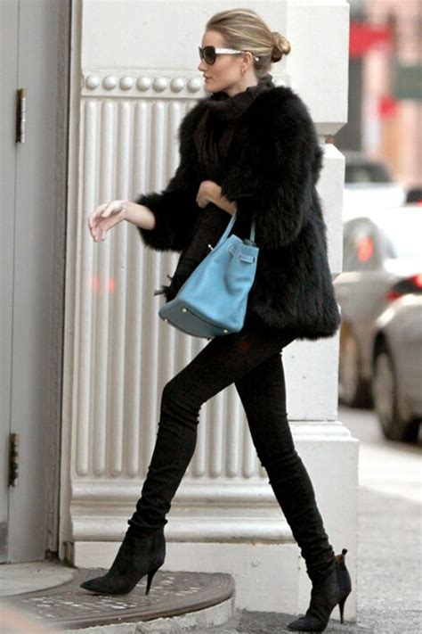 Cally Top Babyblue rosie huntington whiteley s winter style is everything