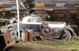 60 vintage cars found in farm garage after 50 years