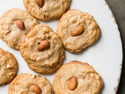 butter cookies recipe for new year soft peanut butter cookies with toasted almonds recipe